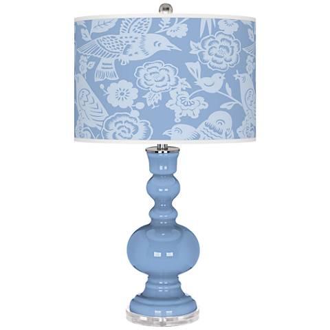 Placid Blue Aviary Apothecary Table Lamp