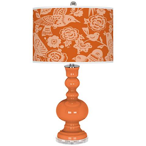 Celosia Orange Aviary Apothecary Table Lamp