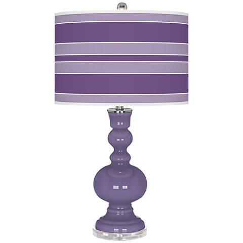 Purple Haze Bold Stripe Apothecary Table Lamp