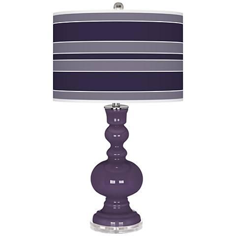 Quixotic Plum Bold Stripe Apothecary Table Lamp
