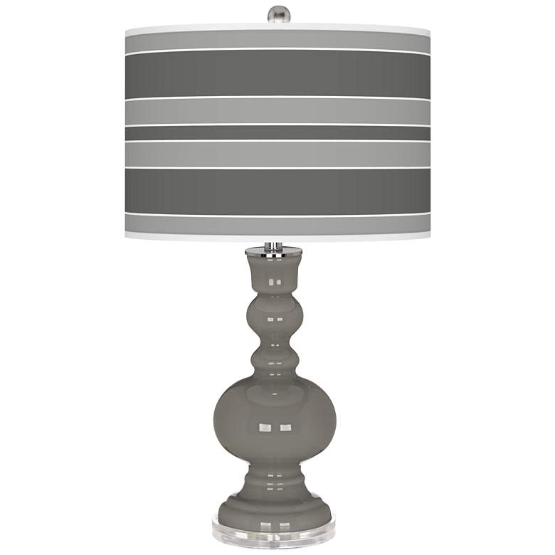 Gauntlet Gray Bold Stripe Apothecary Table Lamp