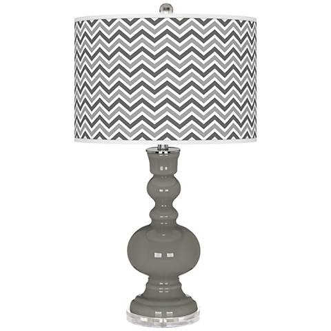 Gauntlet Gray Narrow Zig Zag Apothecary Table Lamp