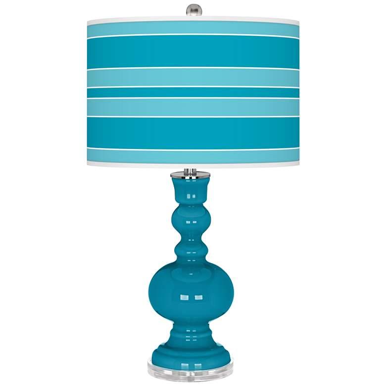 Caribbean Sea Bold Stripe Apothecary Table Lamp