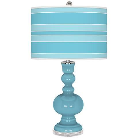 Nautilus Bold Stripe Apothecary Table Lamp
