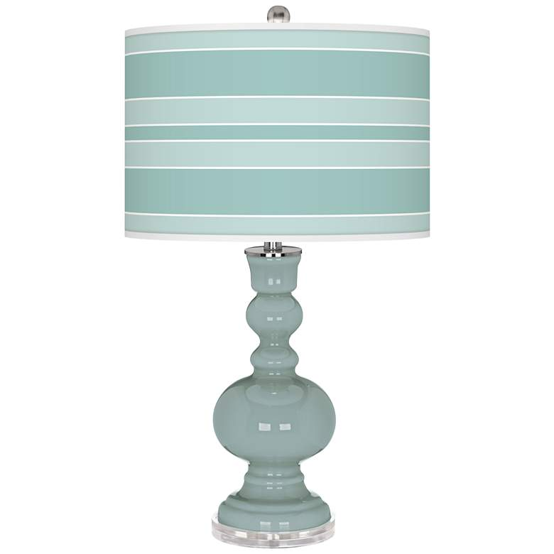 Aqua-Sphere Bold Stripe Apothecary Table Lamp
