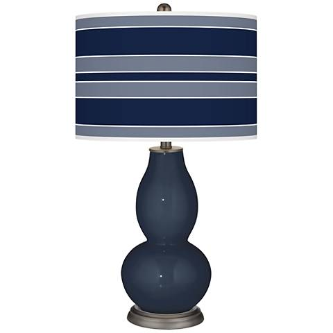 Naval Bold Stripe Double Gourd Table Lamp