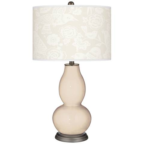 Steamed Milk Aviary Double Gourd Table Lamp