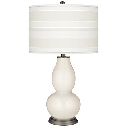 West Highland White Bold Stripe Double Gourd Table Lamp