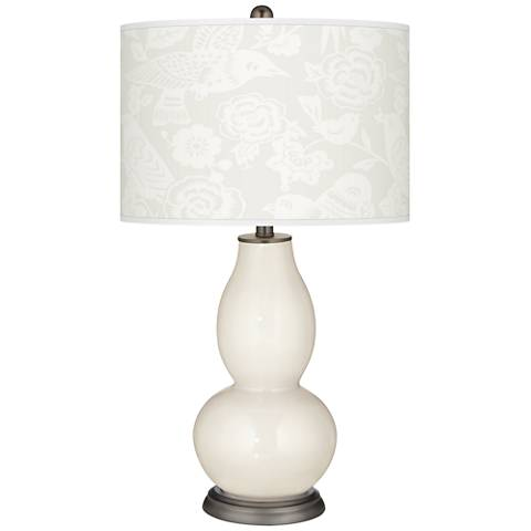 West Highland White Aviary Double Gourd Table Lamp