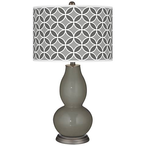 Gauntlet Gray Circle Rings Double Gourd Table Lamp