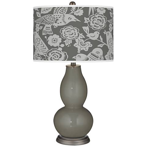 Gauntlet Gray Aviary Double Gourd Table Lamp