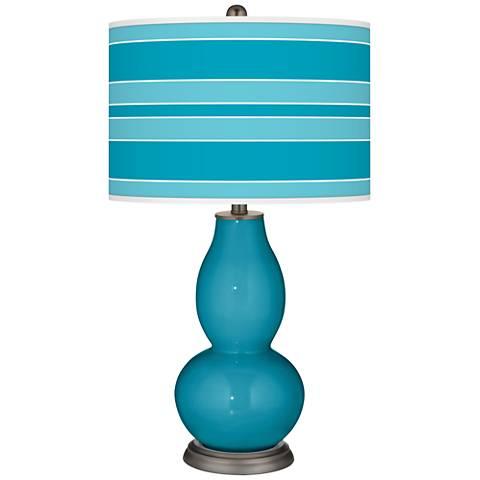 Caribbean Sea Bold Stripe Double Gourd Table Lamp
