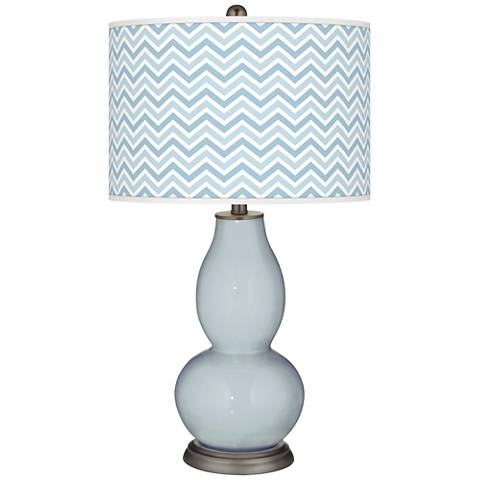 Take Five Narrow Zig Zag Double Gourd Table Lamp