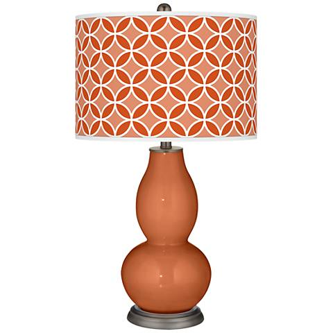 Robust Orange Circle Rings Double Gourd Table Lamp