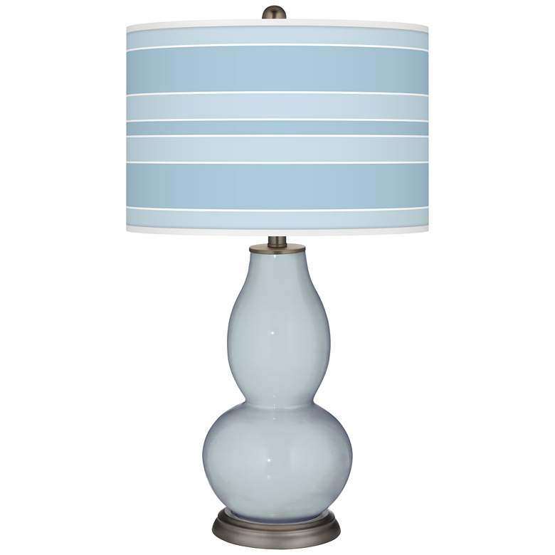 Take Five Bold Stripe Double Gourd Table Lamp
