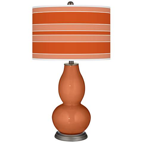 Robust Orange Bold Stripe Double Gourd Table Lamp