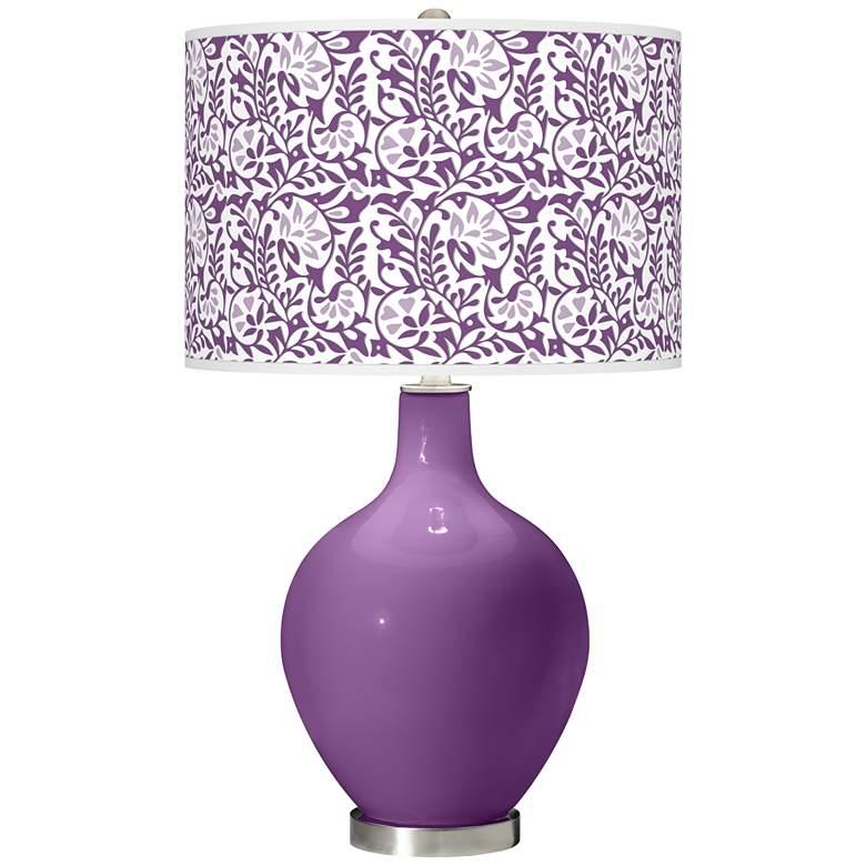 Passionate Purple Gardenia Ovo Table Lamp