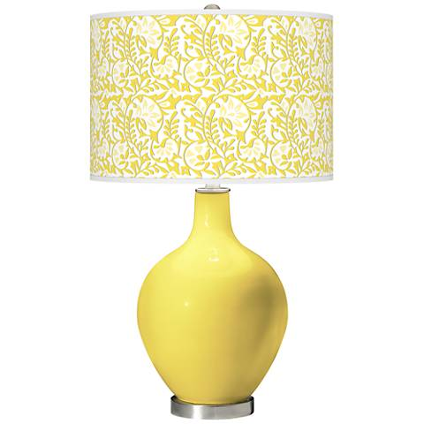 Lemon Twist Gardenia Ovo Table Lamp