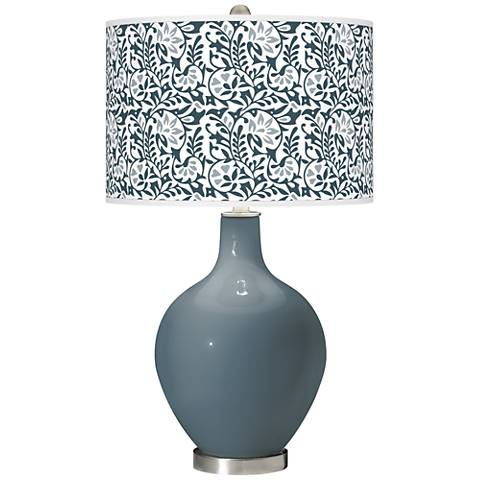 Smoky Blue Gardenia Ovo Table Lamp