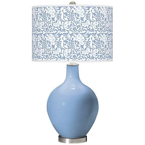Placid Blue Gardenia Ovo Table Lamp