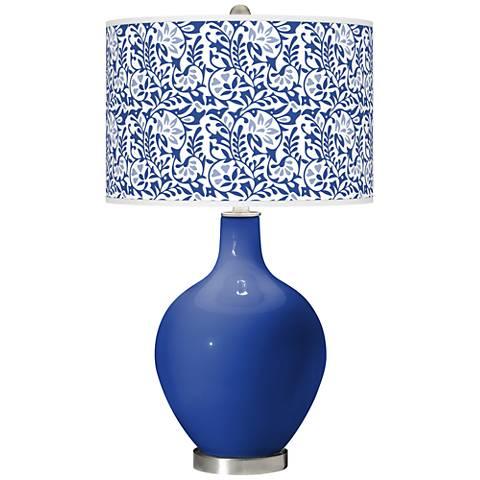 Dazzling Blue Gardenia Ovo Table Lamp