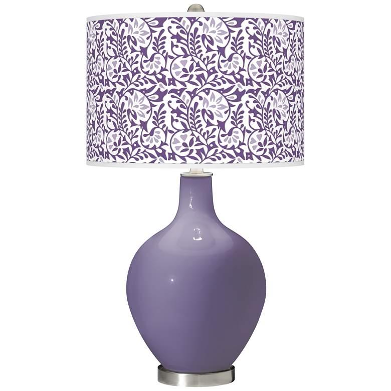 Purple Haze Gardenia Ovo Table Lamp