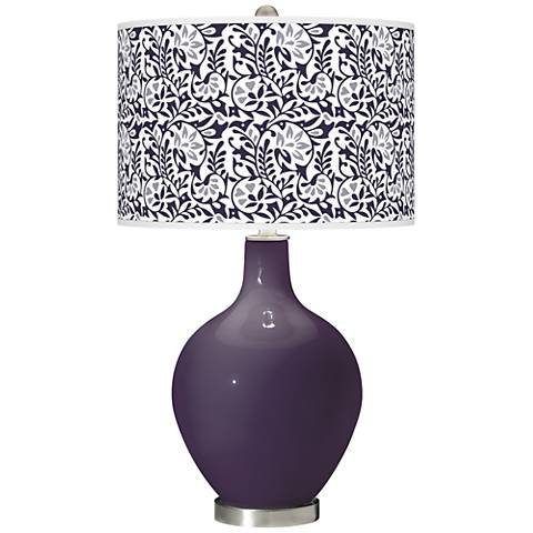Quixotic Plum Gardenia Ovo Table Lamp