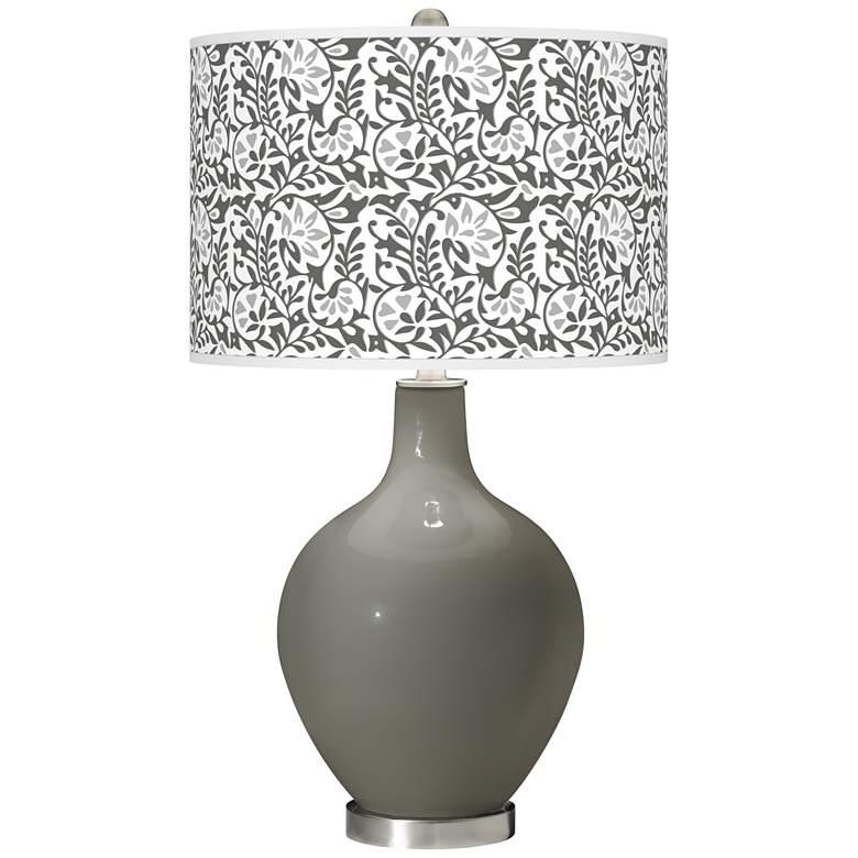 Gauntlet Gray Gardenia Ovo Table Lamp