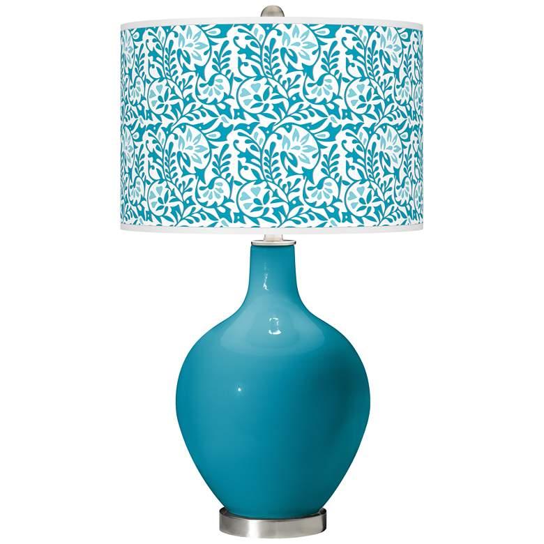 Caribbean Sea Gardenia Ovo Table Lamp