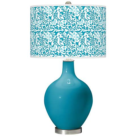Caribbean Sea Gardenia Ovo Table Lamp