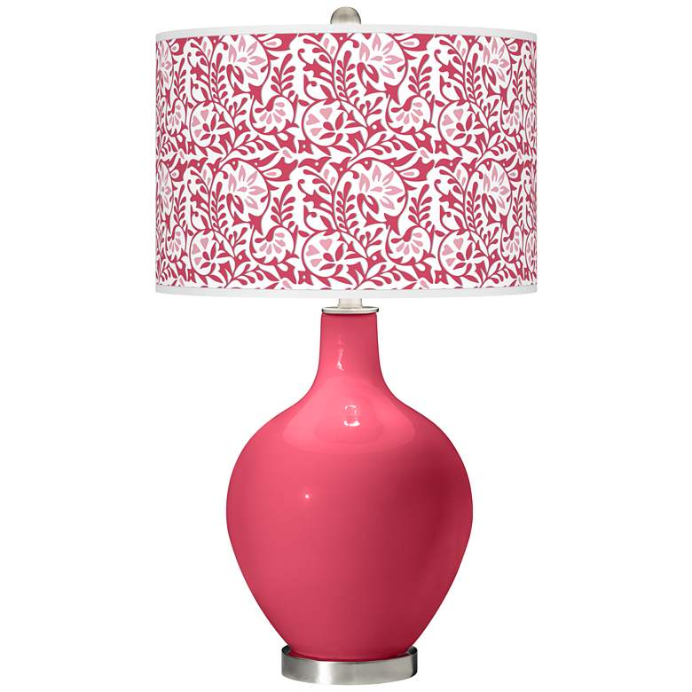 Eros Pink Gardenia Ovo Table Lamp