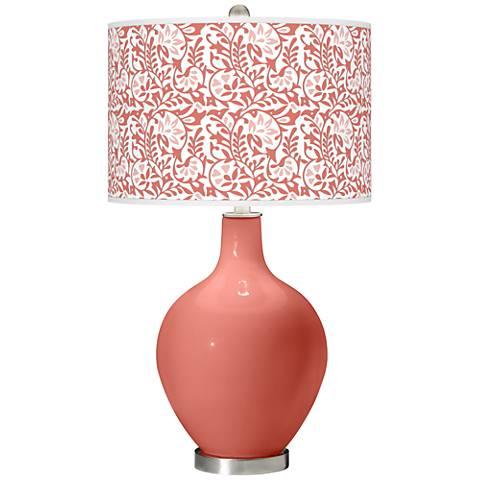 Coral Reef Gardenia Ovo Table Lamp