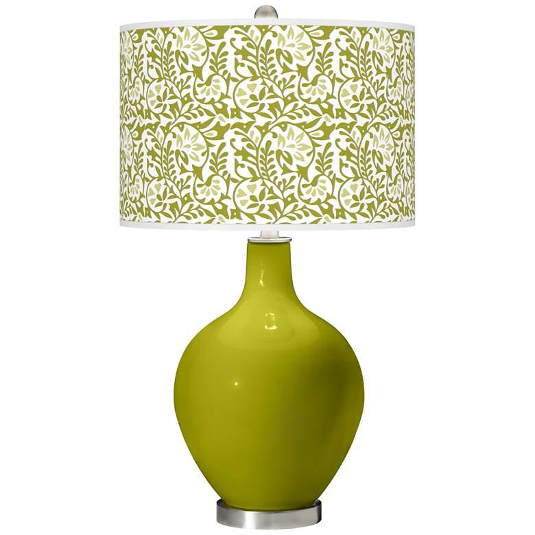 Olive Green Gardenia Ovo Table Lamp