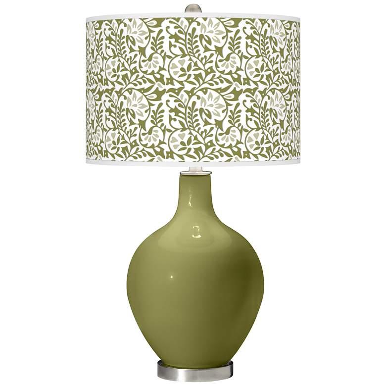 Rural Green Gardenia Ovo Table Lamp