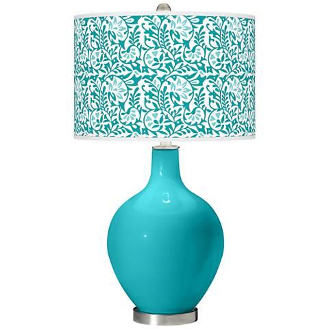 Surfer Blue Gardenia Ovo Table Lamp