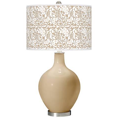 Colonial Tan Gardenia Ovo Table Lamp