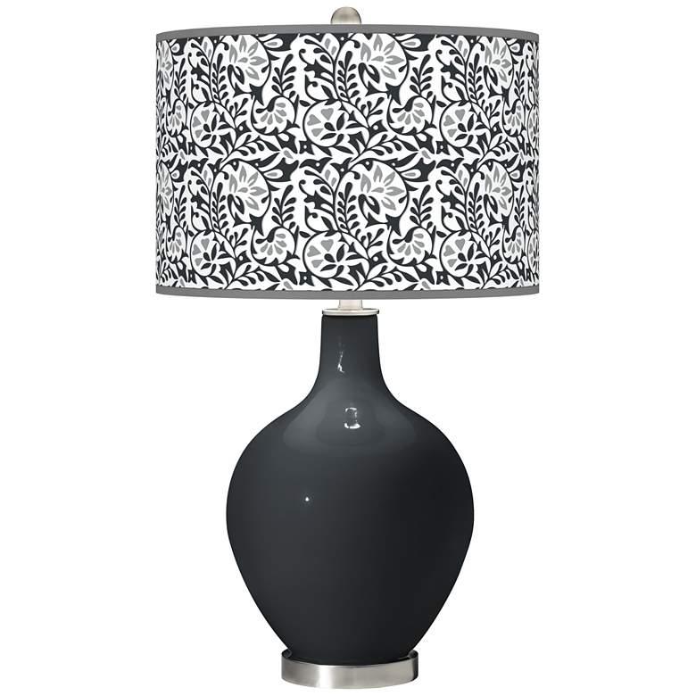 Black of Night Gardenia Ovo Table Lamp