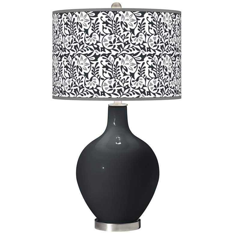 Black of Night Gardenia Ovo Table Lamp