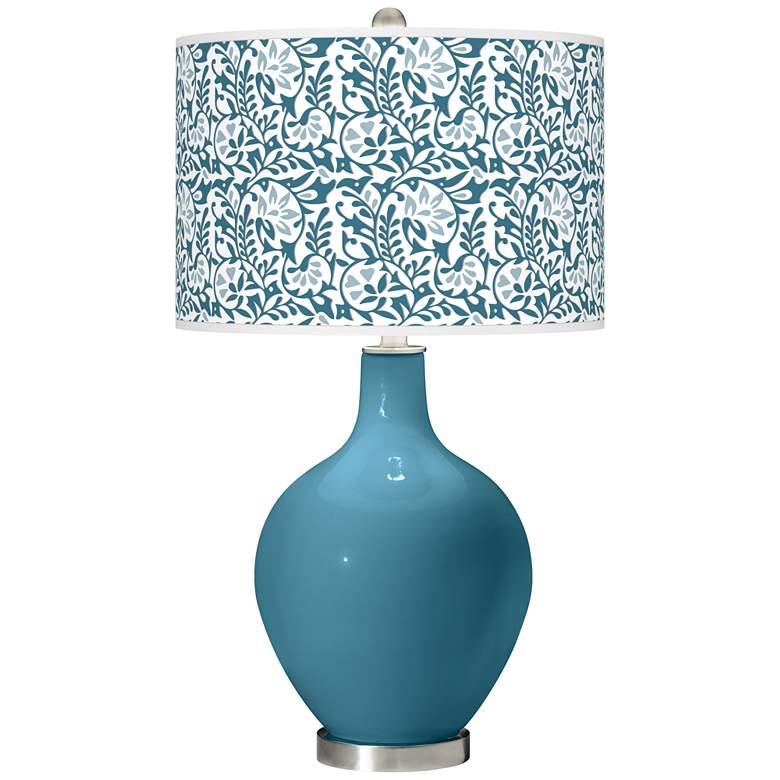 Great Falls Gardenia Ovo Table Lamp