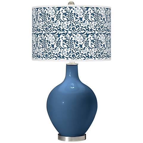 Regatta Blue Gardenia Ovo Table Lamp