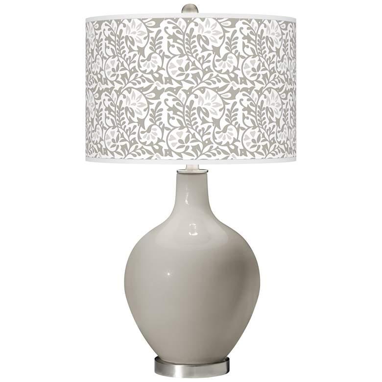 Requisite Gray Gardenia Ovo Table Lamp