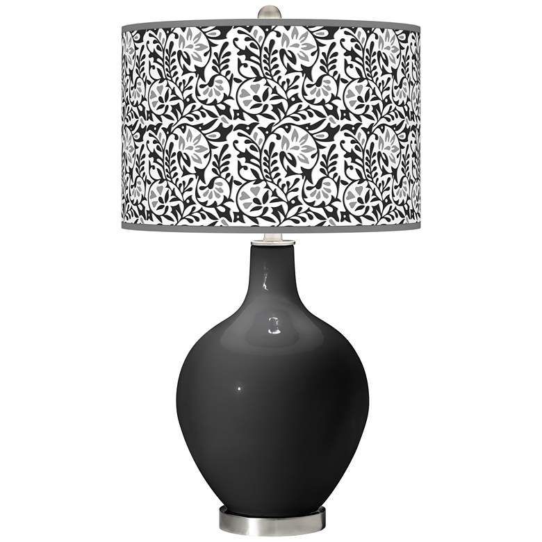 Tricorn Black Gardenia Ovo Table Lamp