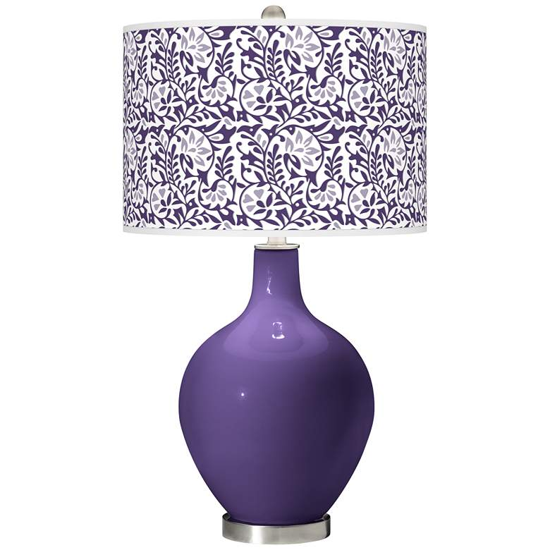 Izmir Purple Gardenia Ovo Table Lamp