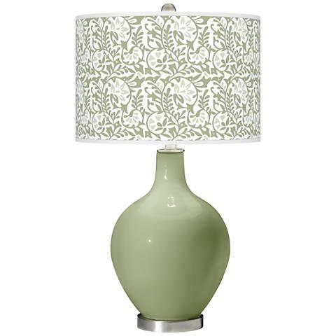 Majolica Green Gardenia Ovo Table Lamp