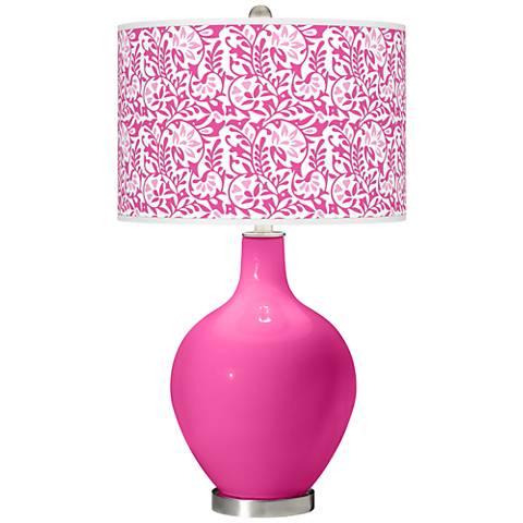 Fuchsia Gardenia Ovo Table Lamp