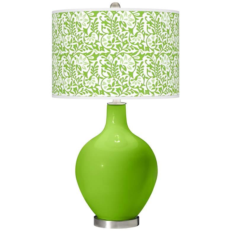 Neon Green Gardenia Ovo Table Lamp