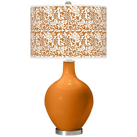 Cinnamon Spice Gardenia Ovo Table Lamp