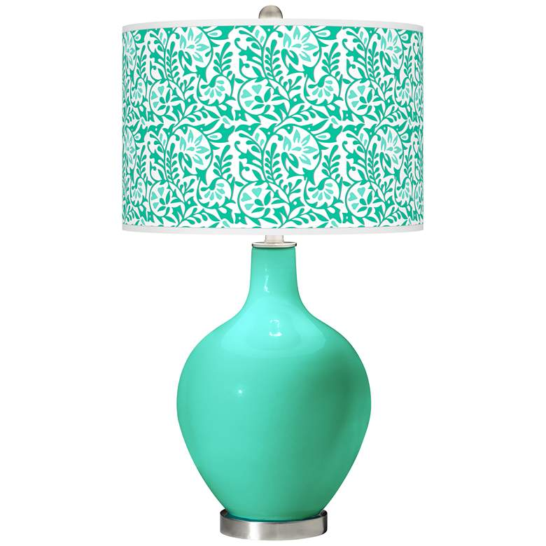 Turquoise Gardenia Ovo Table Lamp