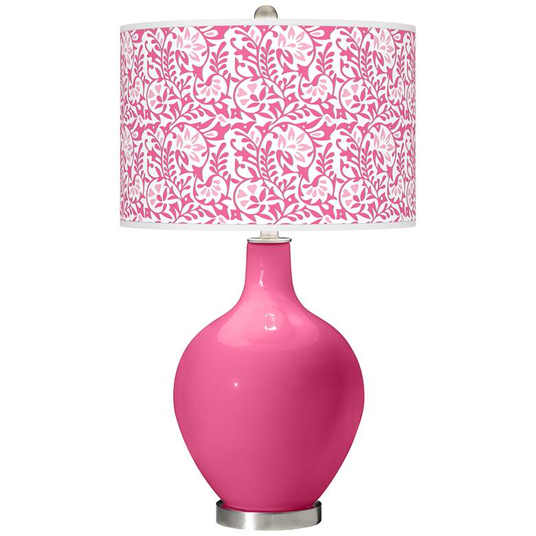 Blossom Pink Gardenia Ovo Table Lamp