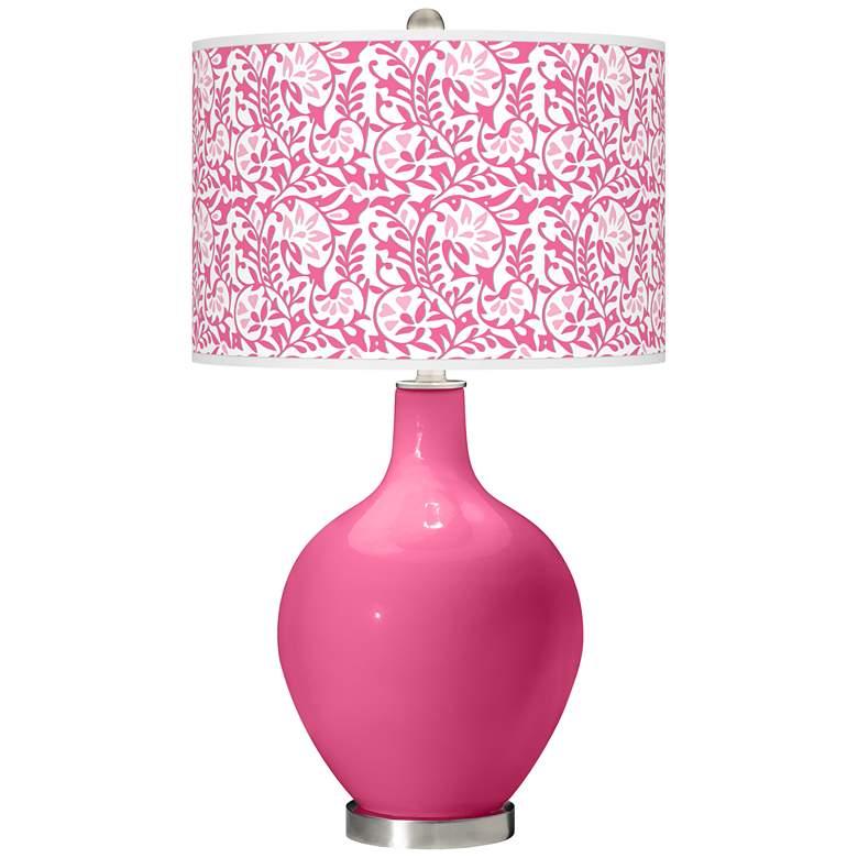 Blossom Pink Gardenia Ovo Table Lamp